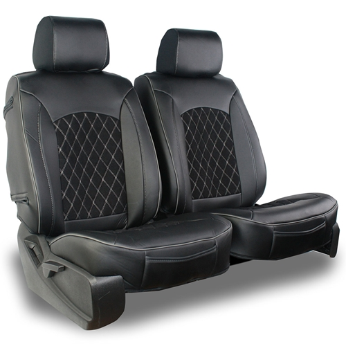Semi-Custom Leatherette / Suede Diamond Seat Covers