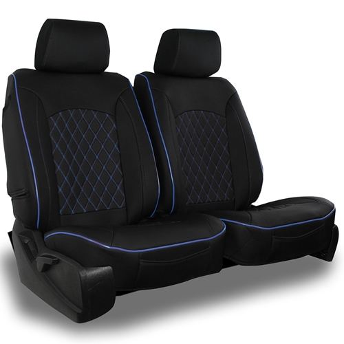 Semi-Custom Leatherette Diamond Seat Covers (Pair, Includes Headrest Covers)