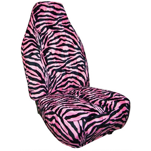 Zebra Print Custom Velour Seat Covers