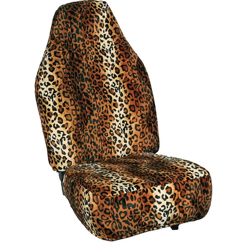 Leopard Print Custom Velour Seat Covers