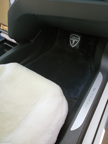 Tesla Model S Sheepskin Floor Mats