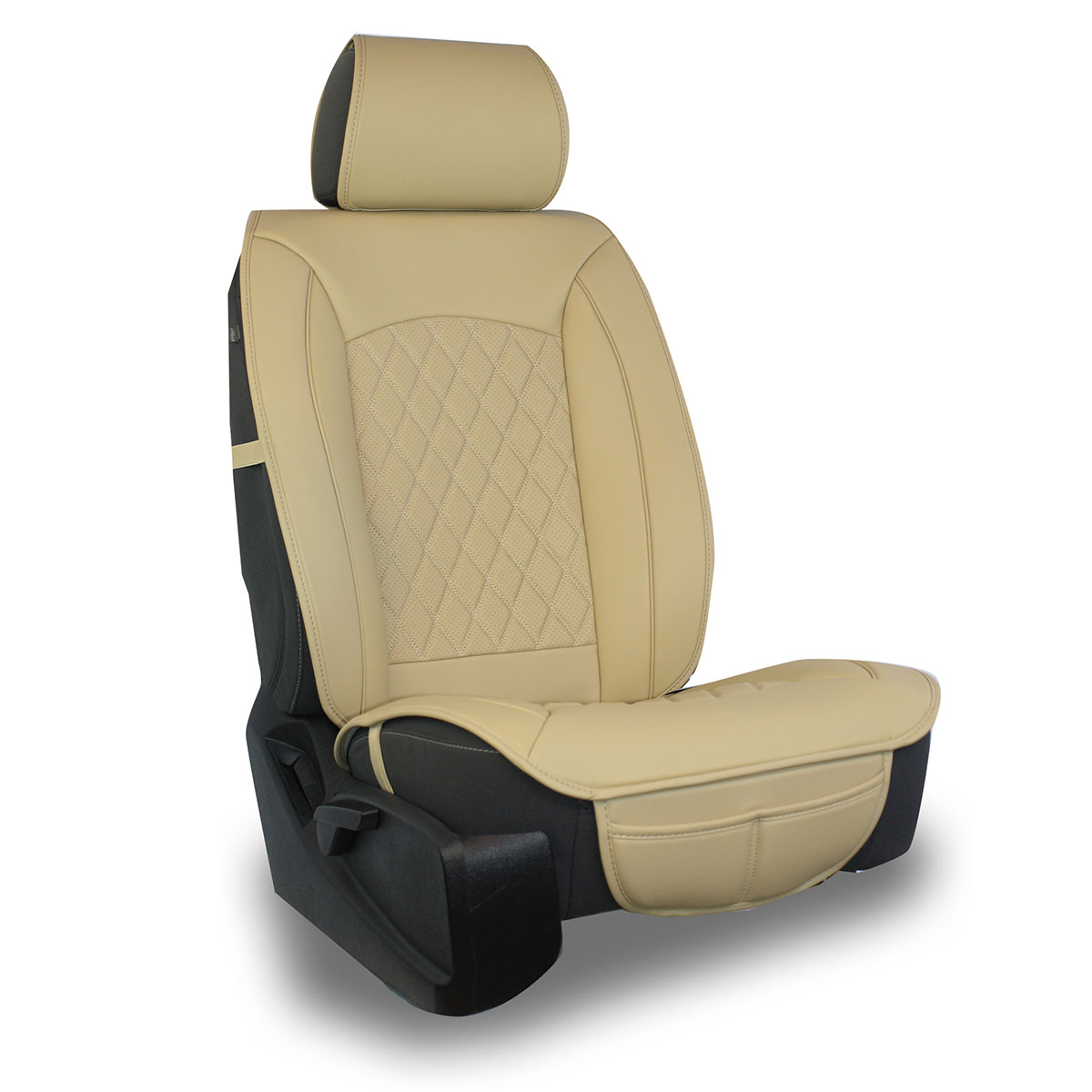 Grey Pu Leather /& Premium Fabric Luxury Seat Covers For Renault Magnum Premium