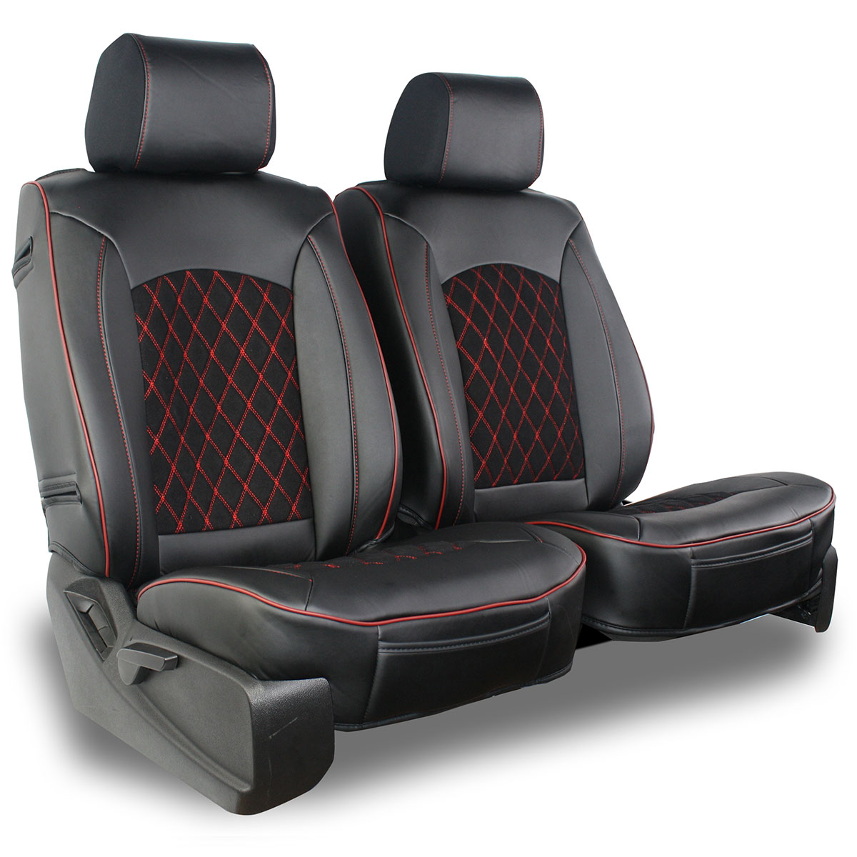 Semi Custom Leatherette Suede Diamond Seat Covers Premium Quality
